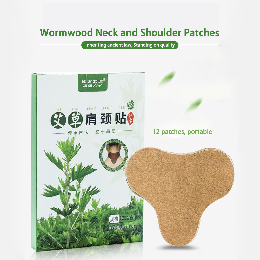 Fast effective moxa heat pack for pain neck pain plaster Cold relief cervical spine patch